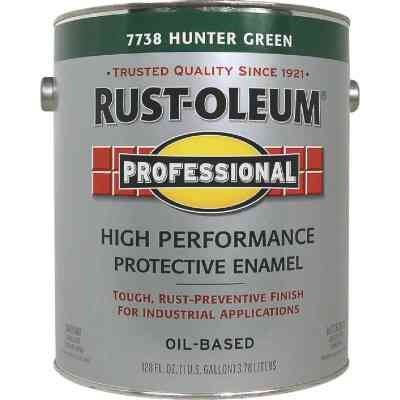 Rust-Oleum Professional Oil-Based Gloss VOC Formula Rust Control Enamel, Hunter Green, 1 Gal.
