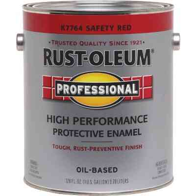 Rust-Oleum Professional Oil-Based Gloss VOC Formula Rust Control Enamel, Safety Red, 1 Gal.