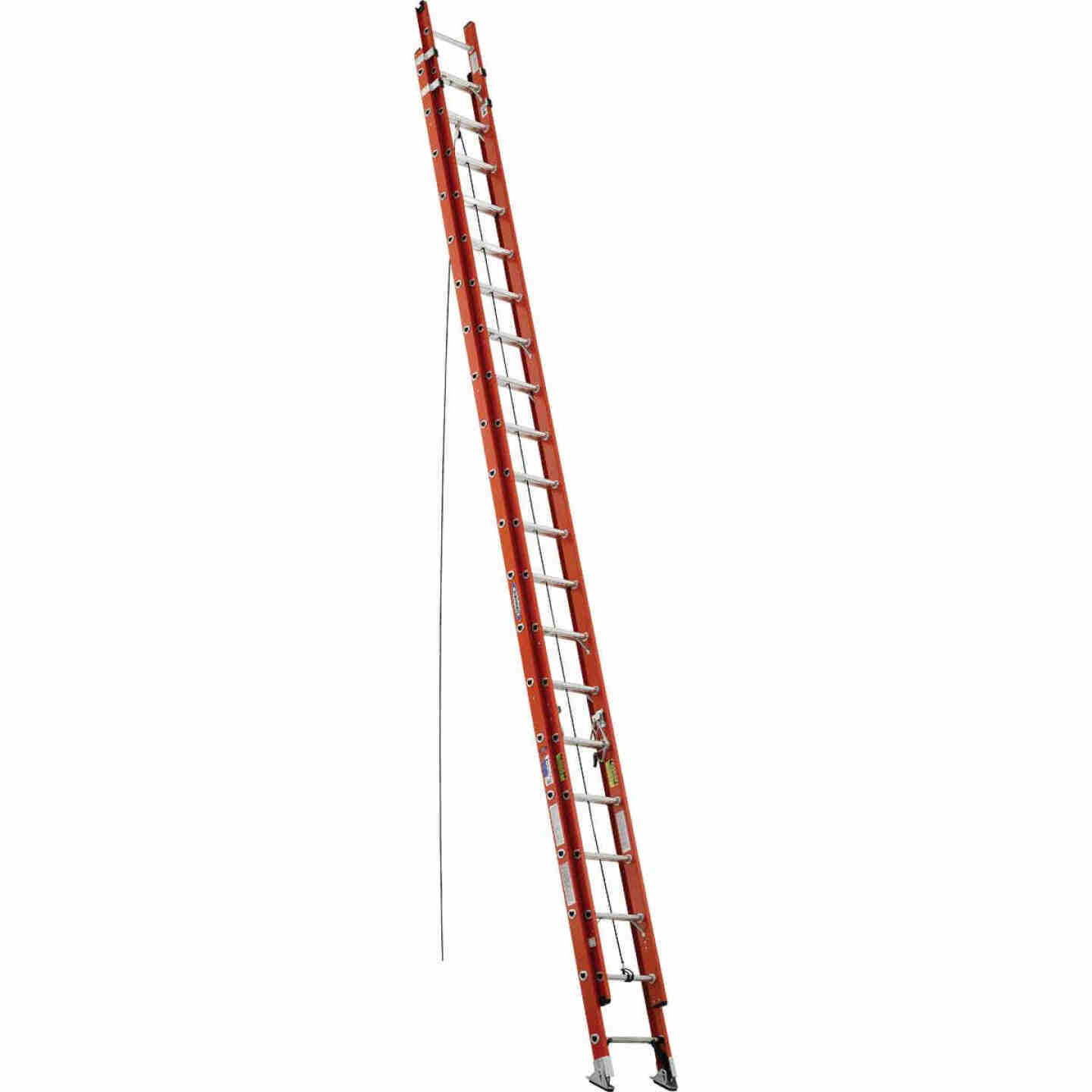 Werner 40 Ft. Fiberglass Extension Ladder with 300 Lb. Load Capacity Type IA Duty Rating Image 1