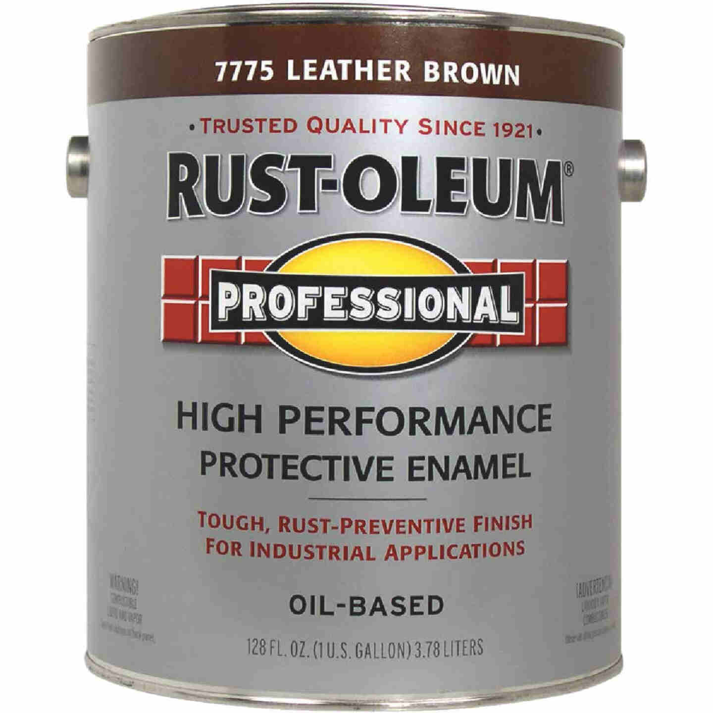 Rust-Oleum Professional Oil-Based Gloss VOC Formula Rust Control Enamel, Leather Brown, 1 Gal. Image 1