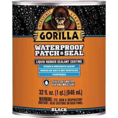 Gorilla 32 Oz. Black Waterproof Patch & Seal Liquid