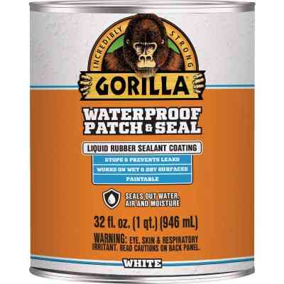 Gorilla 32 Oz. White Waterproof Patch & Seal Liquid
