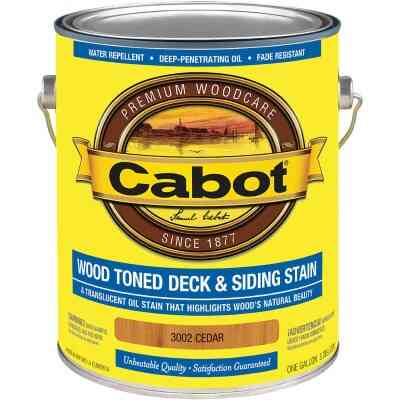 Cabot Alkyd/Oil Base Wood Toned Deck & Siding Stain, Cedar, 1 Gal.