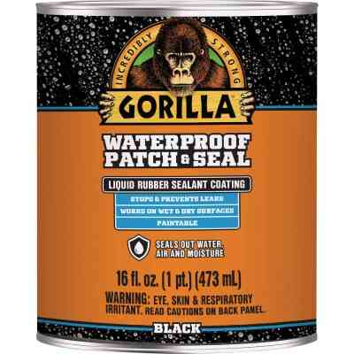 Gorilla 16 Oz. Black Waterproof Patch & Seal Liquid