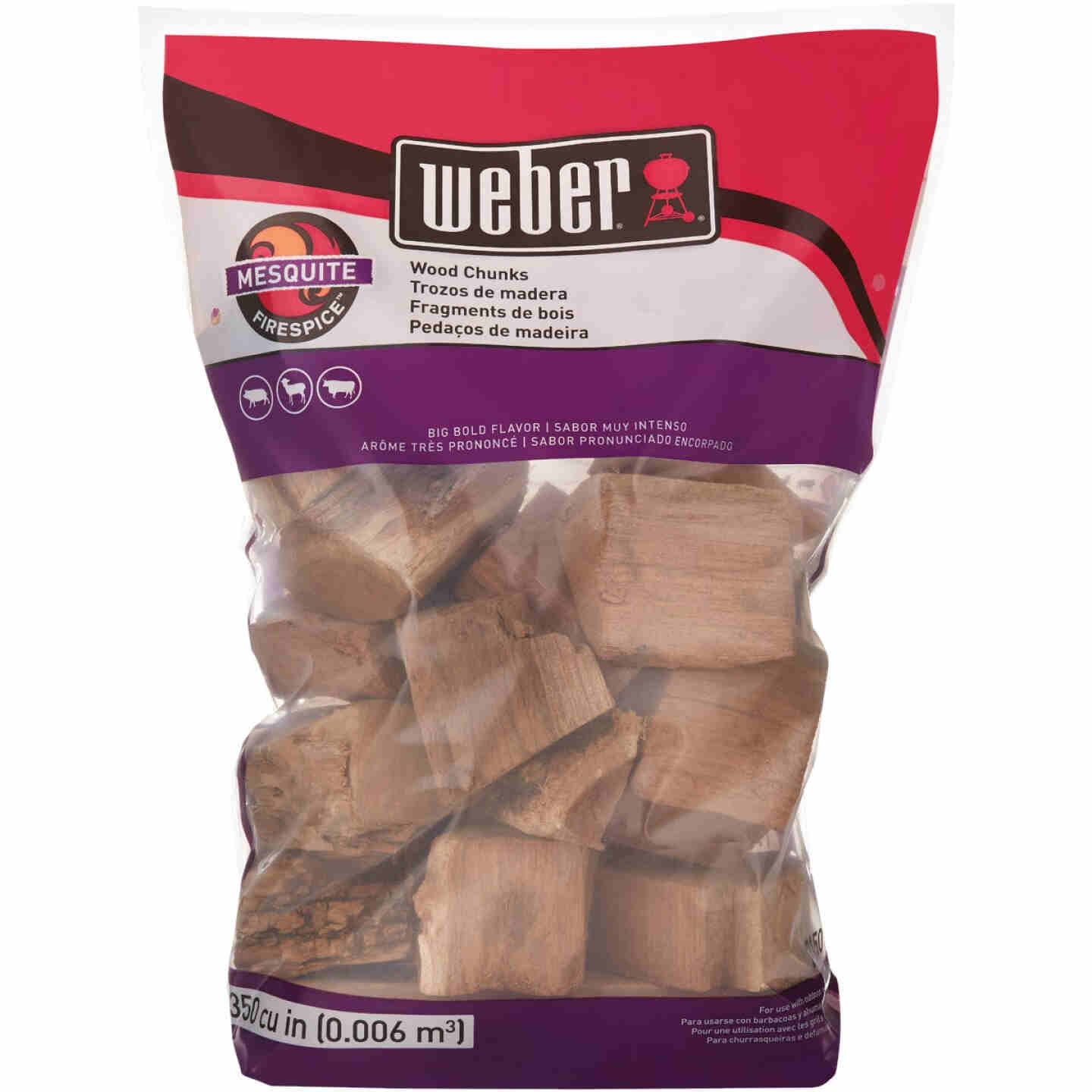 Weber FireSpice 350 Cu. In. Mesquite Smoking Chunks Image 4