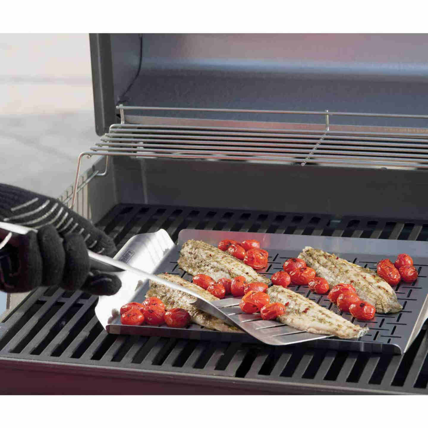 Weber Style Stainless Steel Grill Pan Image 2