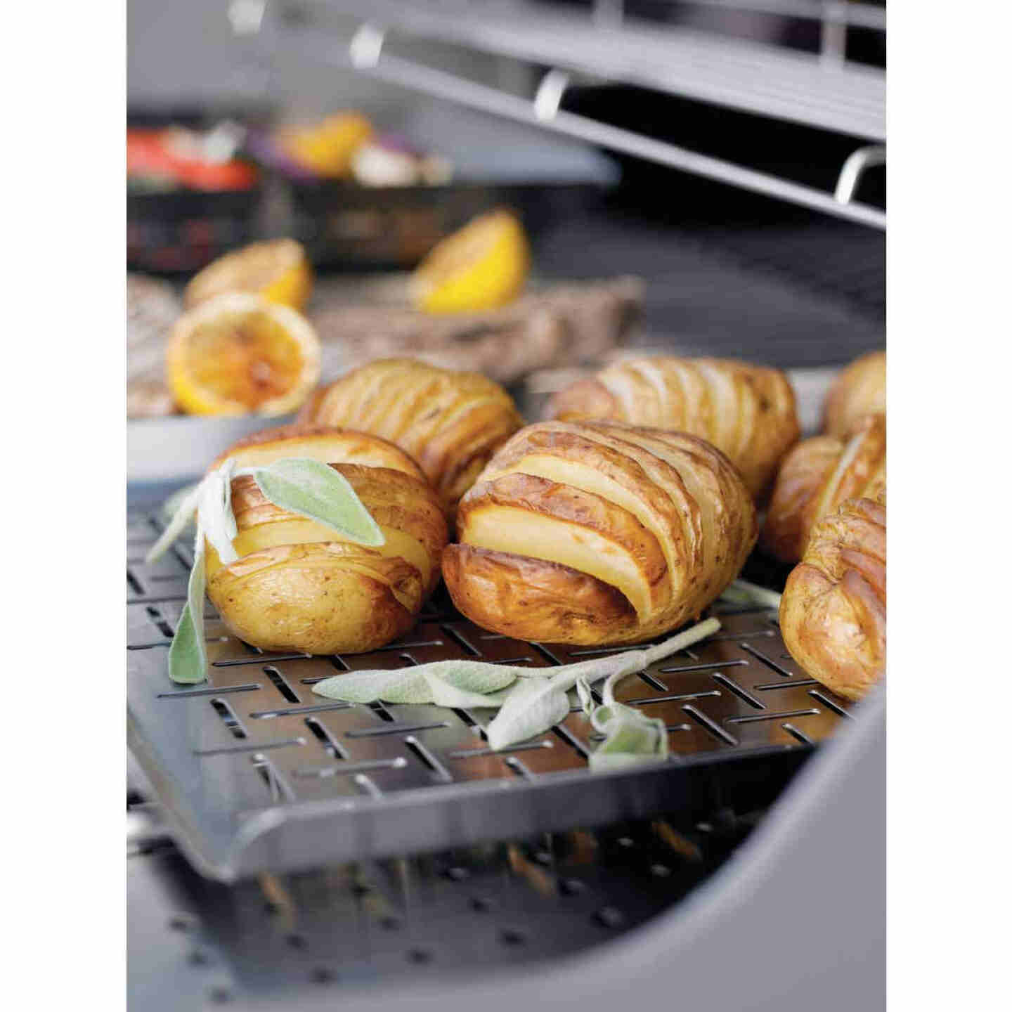Weber Style Stainless Steel Grill Pan Image 3