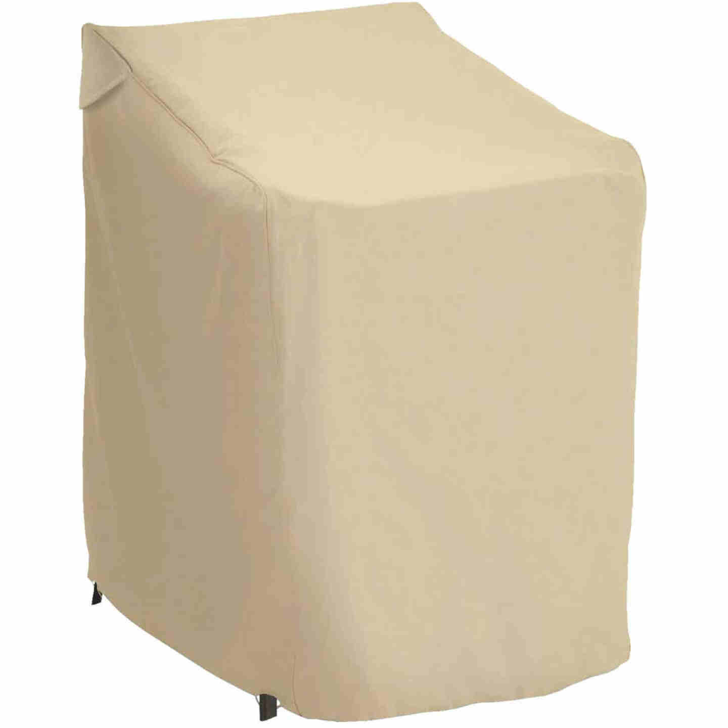 Classic Accessories 25.5 In. W. x 45 In. H. x 33.5 In. L. Tan Polyester/PVC Chair Cover Image 1