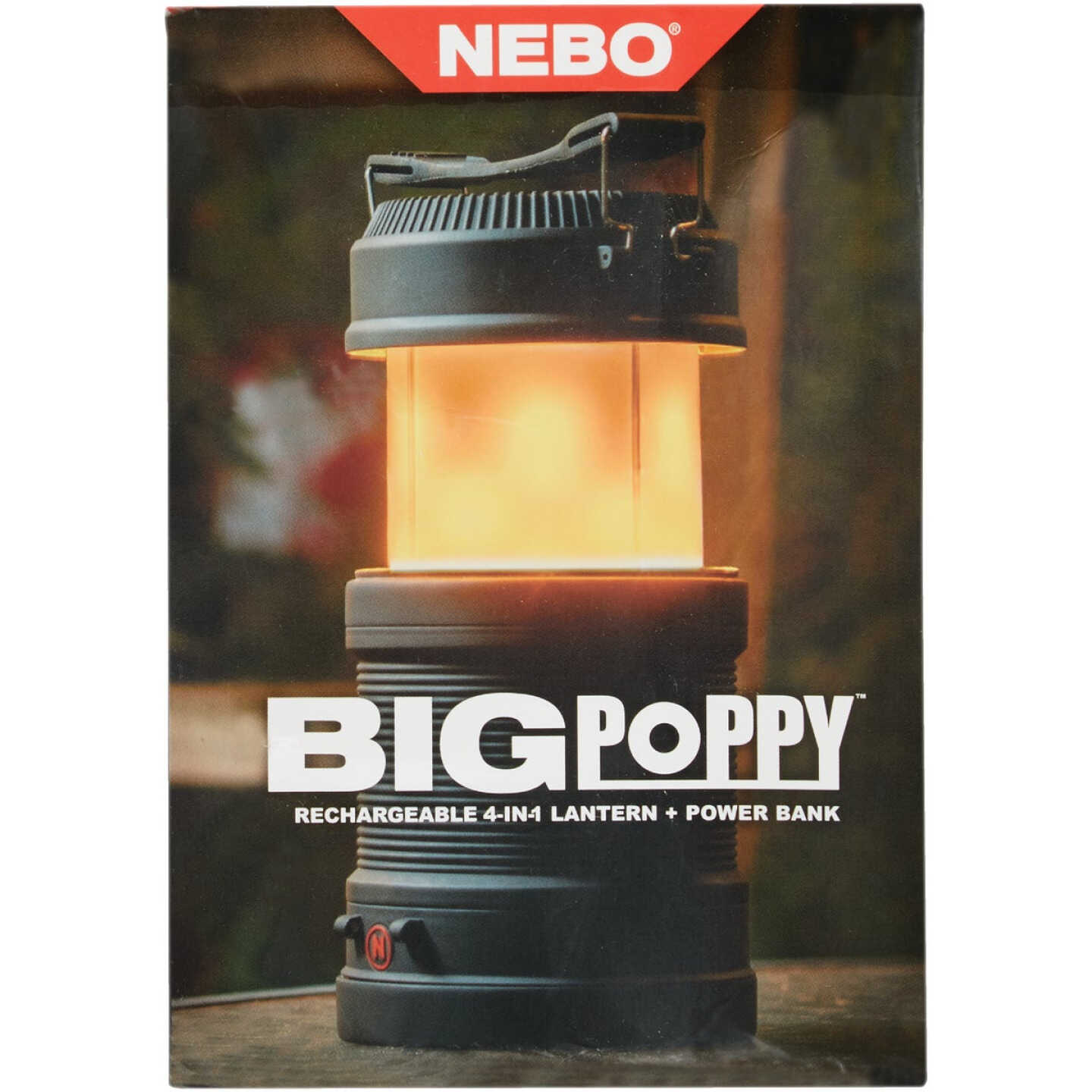 Nebo Big Poppy 8.37 In. H. x 4.06 In. Dia.Rechargeable LED Lantern Image 4