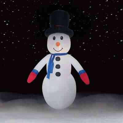 Brite Star 10 Ft. Snowman with Black Top Hat Airblown Inflatable