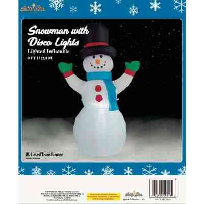 Brite Star 8 Ft. Snowman with Disco Lights Airblown Inflatable