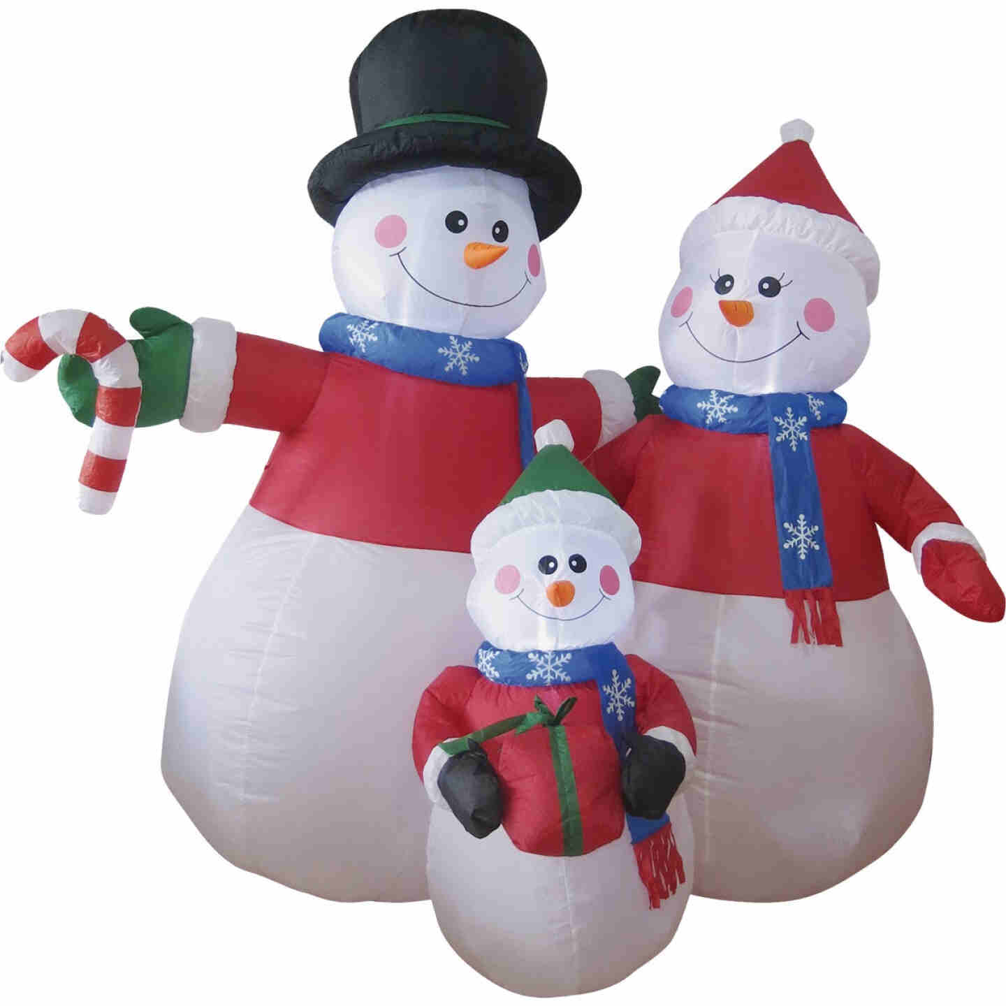 Brite Star 6 Ft. Snowman Family Airblown Inflatable Image 1